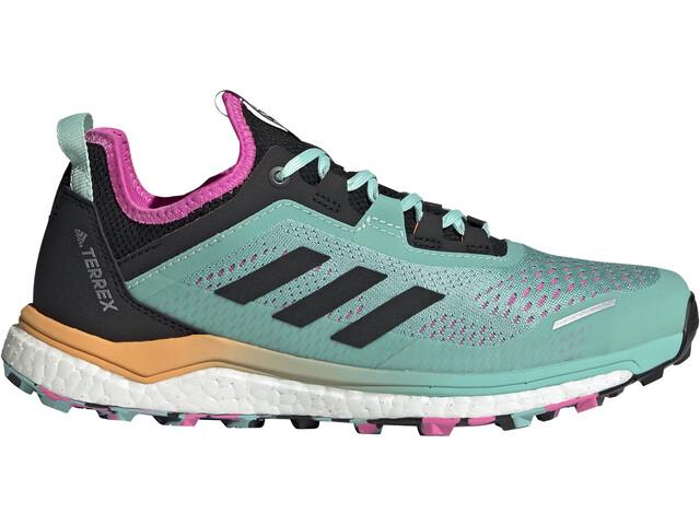 adidas TERREX Agravic Flow Trail Running Shoes Women, acid mint/core black/screaming pink